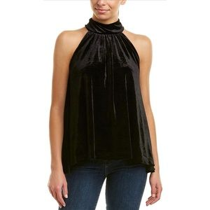 French Connection Aurore Velvet High Neck Top
